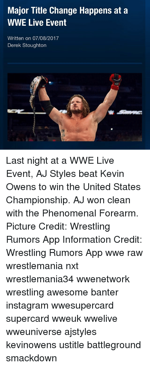 Major Title Change Happens at a WWE Live Event Written on