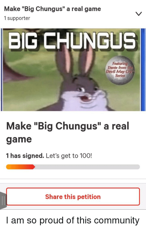 Make Big Chungus A Real Game 1 Supporter Big Chungus Featuring Dante