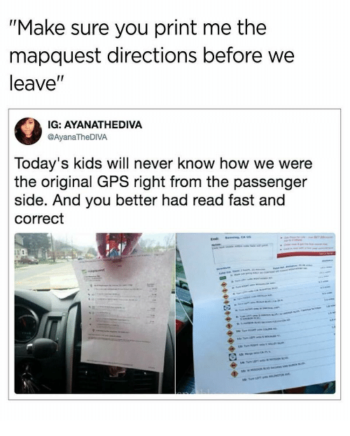 Mapquest Australia.Make Sure You Print Me The Mapquest Directions Before We Leave 9 6