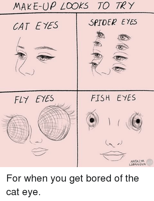 how to make cat eyes