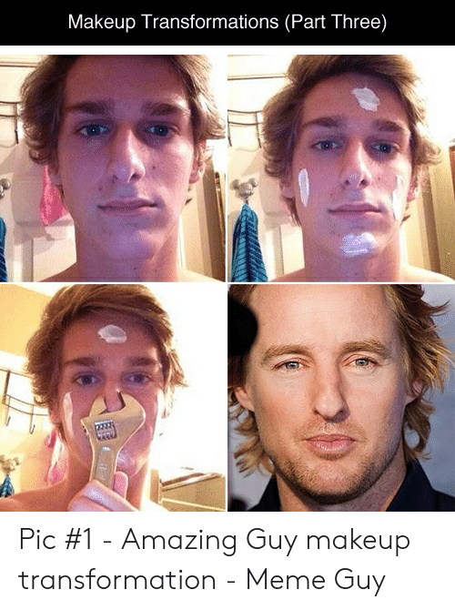 Makeup Transformations Part Three Pic #1 - Amazing Guy