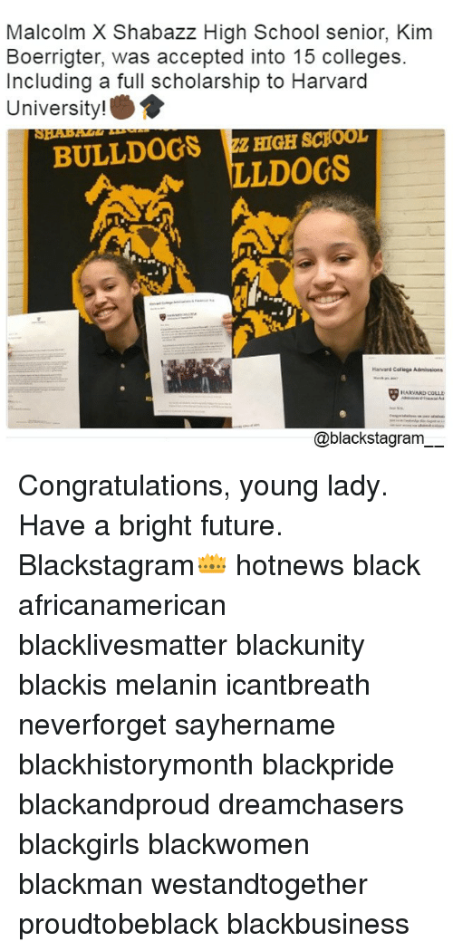 Malcolm X Shabazz High School Senior Kim Boerrigter Was Accepted