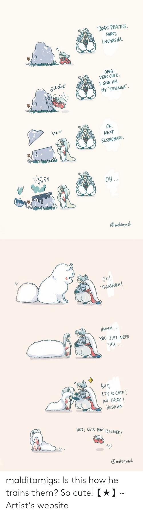 Cute, Target, and Tumblr: malditamigs:  Is this how he trains them? So cute!【★】~ Artist's website
