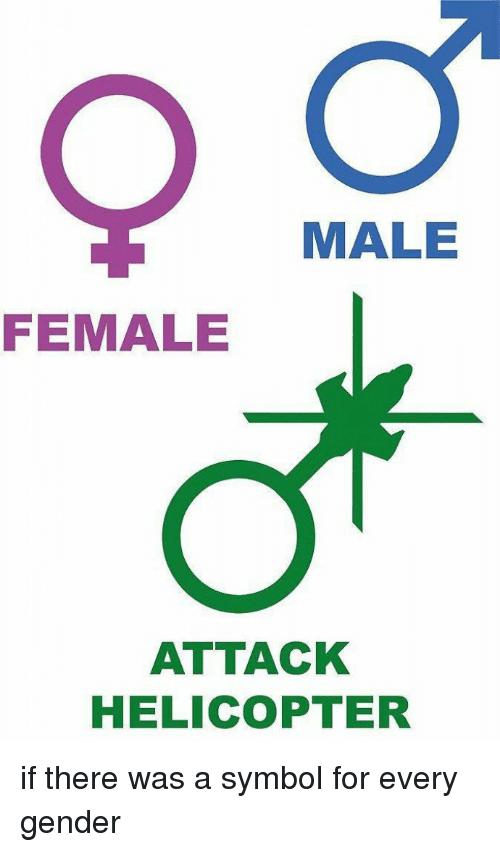 Male Female Attack Helicopter If There Was A Symbol For Every Gender