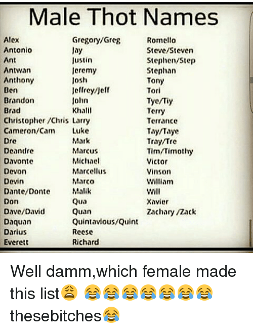 🔥 25+ Best Memes About Thot Names   Thot Names Memes