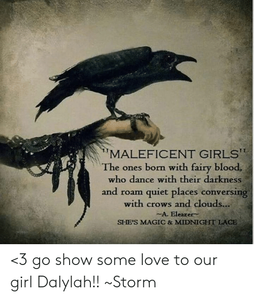 MALEFICENT GIRLSt the Ones Born With Fairy Blood Who Dance With