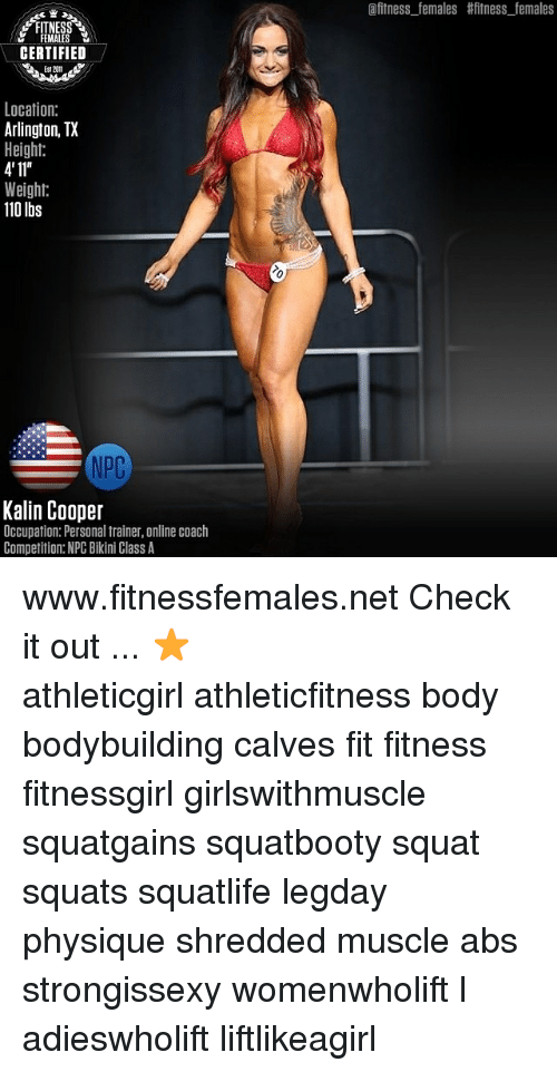 Males Fitness Females Fitness Females Certified Location Arlington