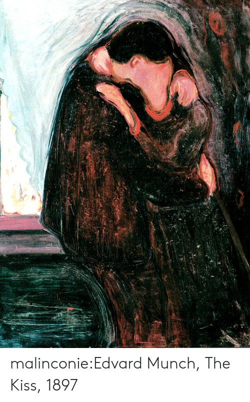 Tumblr, Blog, and Http: malinconie:Edvard Munch, The Kiss, 1897