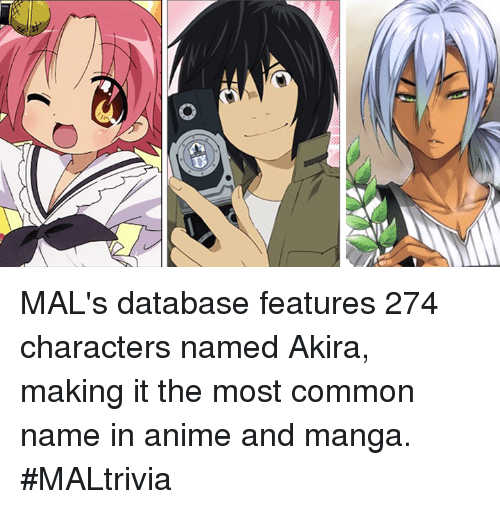 Anime Characters Named Akira : Search anime male names memes on me