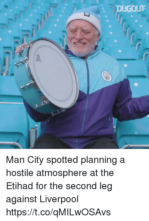 Soccer, Liverpool F.C., and Atmosphere: Man City spotted planning a hostile atmosphere at the Etihad for the second leg against Liverpool https://t.co/qMILwOSAvs