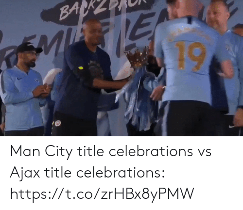 Soccer, Ajax, and Man City: Man City title celebrations vs Ajax title celebrations: https://t.co/zrHBx8yPMW
