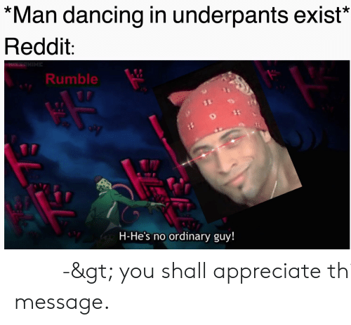Man Dancing in Underpants Exist* Reddit Rumble H-He's No