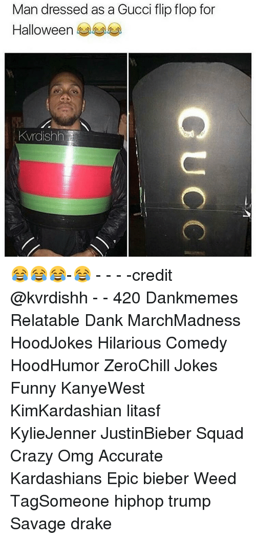 8b71f8790 Man Dressed as a Gucci Flip Flop for Halloween Kvrdishh ...
