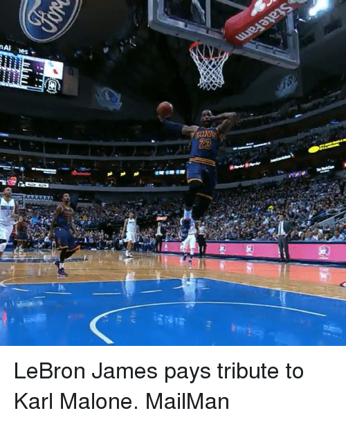 LeBron James, Sports, and Lebron: MAN iness LeBron James pays tribute to Karl Malone. MailMan