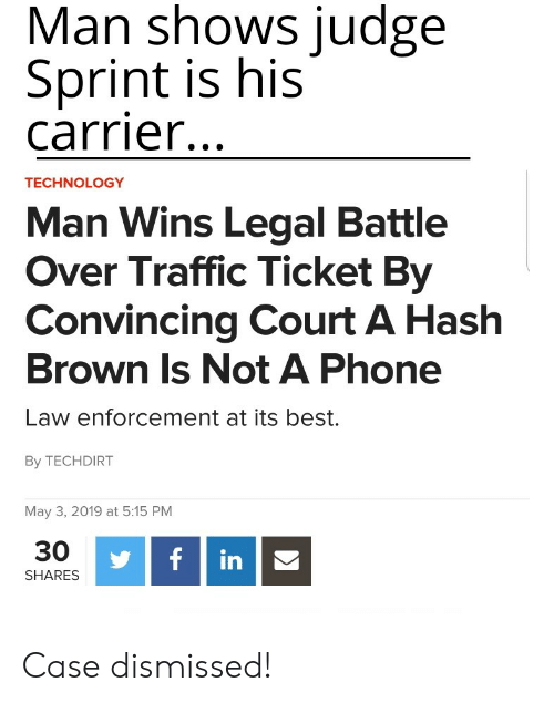 Man Shows Judge Sprint Is His Carrier TECHNOLOGY Man Wins Legal