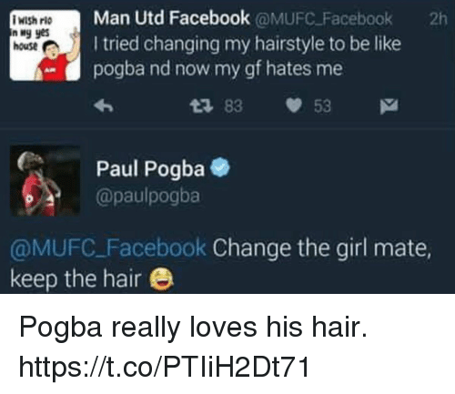Man Utd Facebook Facebook 2h N Yes I Tried Changing My Hairstyle to ...