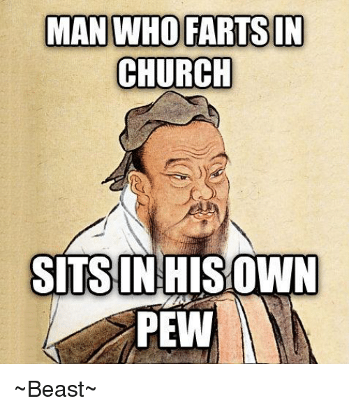 Man Who Farts In Church Sits In Own Pew