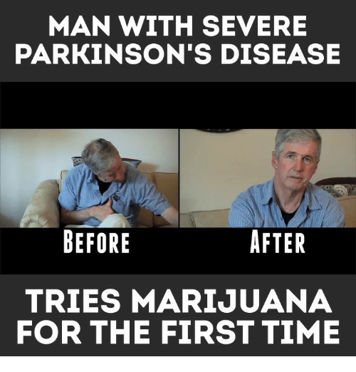 Memes, Marijuana, and 🤖: MAN WITH SEVERE  PARKINSON'S DISEASE  BEFORE  AFTER  TRIES MARIJUANA  FOR THE FIRST TIME
