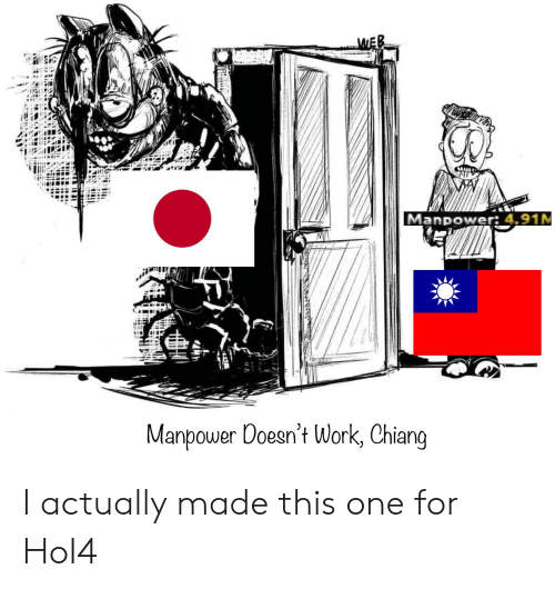 Anime, Work, and Manpower: Manpower: 4.91M  Manpower Doesn't Work, Chiang I actually made this one for HoI4