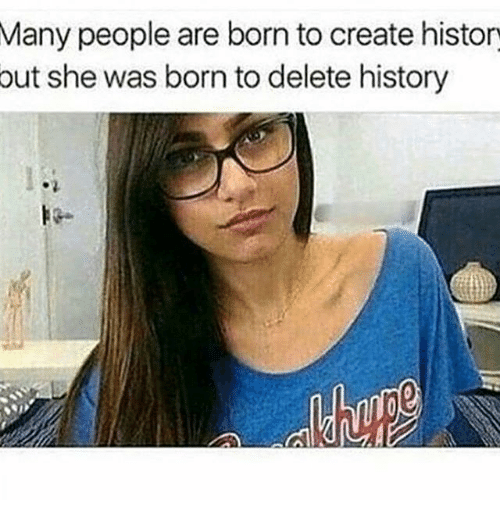 Memes, History, and 🤖: Many people are born to create histor  she was born to delete history  out