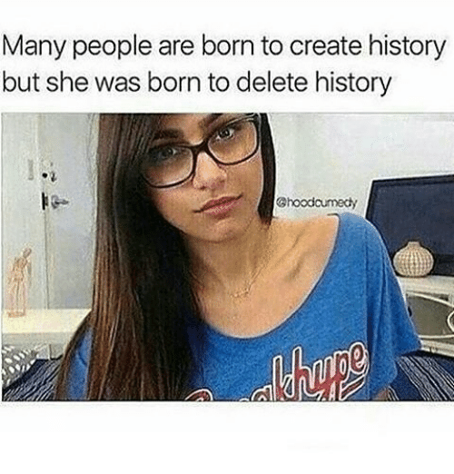 Memes, 🤖, and Delete History: Many people are born to create history  but she was born to delete history  Choodcumedy