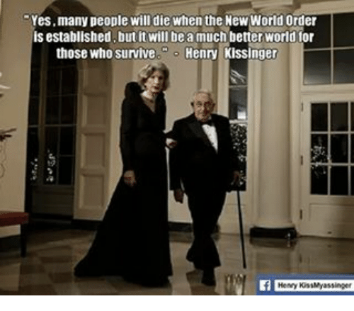Many People Will Die When The New World Order Yes Is Established But