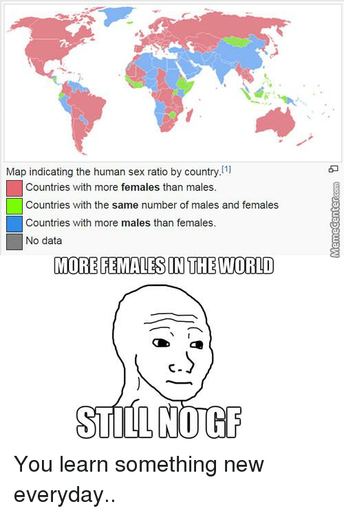 In which country sex is more