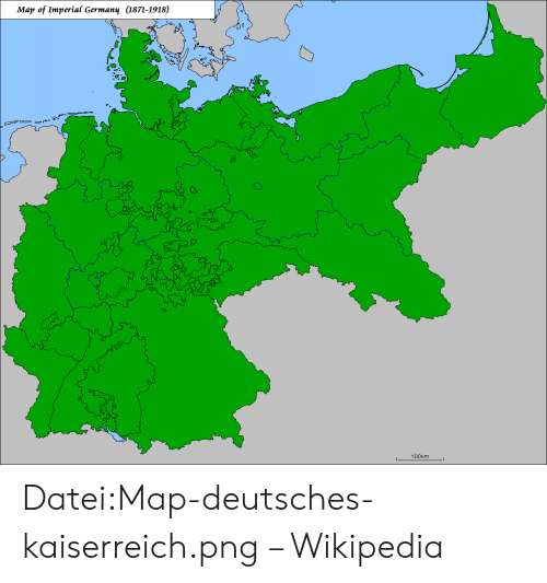 Map Of Germany 1871.Map Of Imperial Germany 1871 1918 せ 07 100km Dateimap
