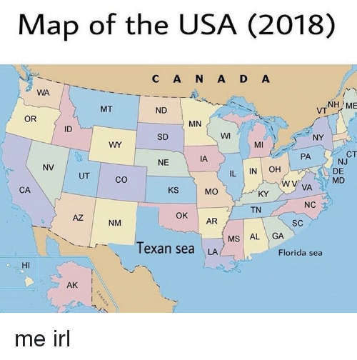 Map Of The USA C A N A D A WA NH ME VT MT ND OR MN ID SD WI - Map 0f florida