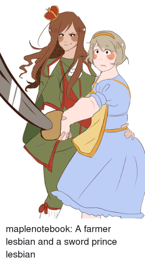Prince, Target, and Tumblr: maplenotebook:  A farmer lesbian and a sword prince lesbian