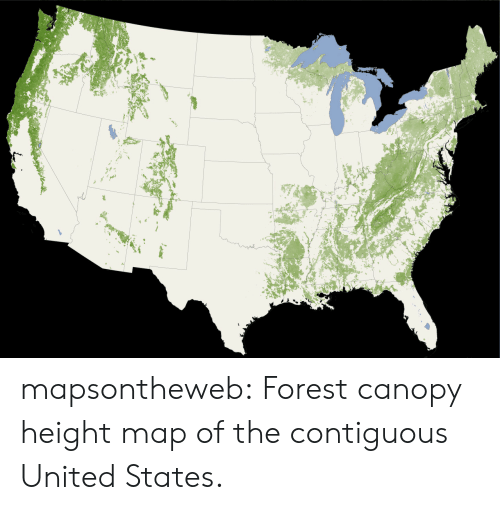 Mapsontheweb Forest Canopy Height Map of the Contiguous United ... on