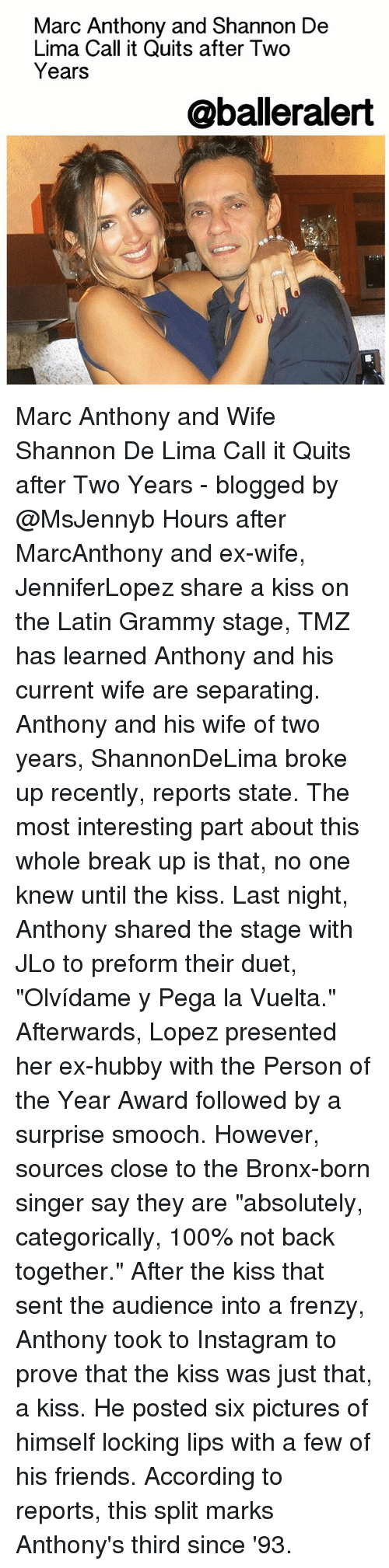 Marc Anthony and Shannon De Lima Call It Quits After Two