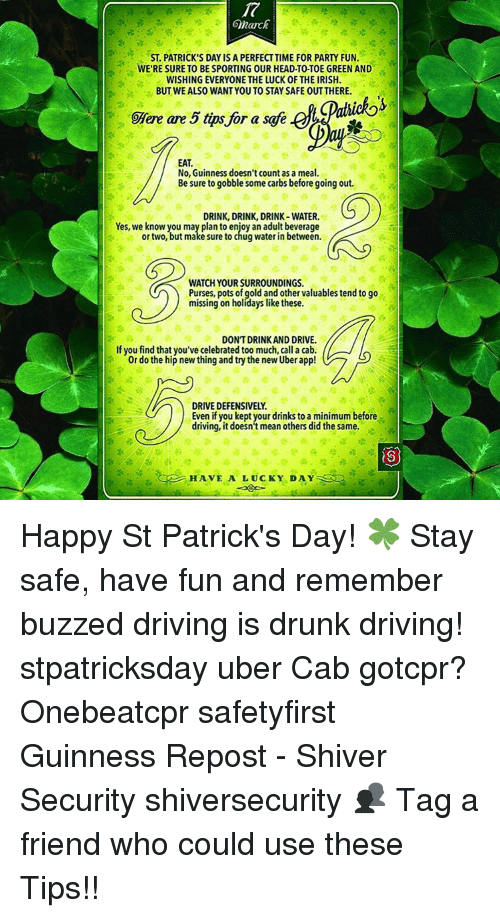 d97614e74 March ST PATRICK'S DAY IS a PERFECTTIME FOR PARTY FUN WE RESURE TO ...