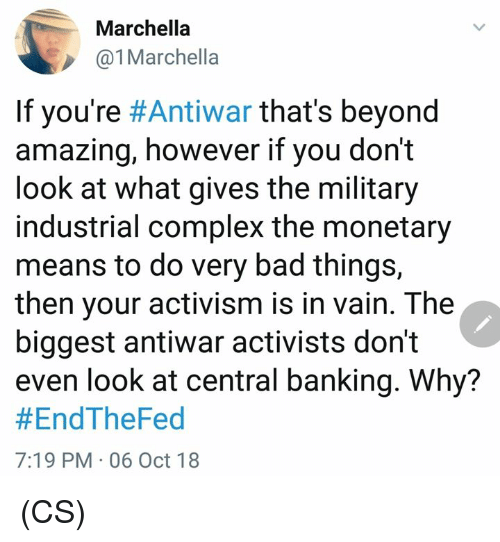 Marchella Marchella If You Re Antiwar That S Beyond Amazing However