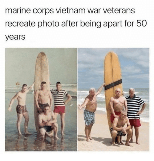 Dank, Vietnam, and 🤖: marine corps vietnam war veterans  recreate photo after being apart for 50  years