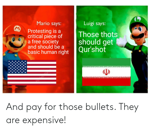 Mario Says Luigi Says Protesting Is A Critical Piece Of A