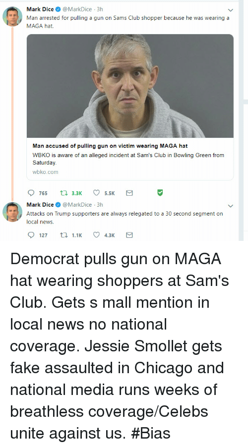 Mark Dice@MarkDice 3h Man Arrested for Pulling a Gun on Sams