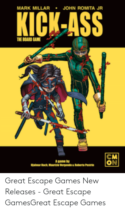 MARK MILLAR JOHN ROMITA JR KICK-ASS THE BOARD GAME CM ON