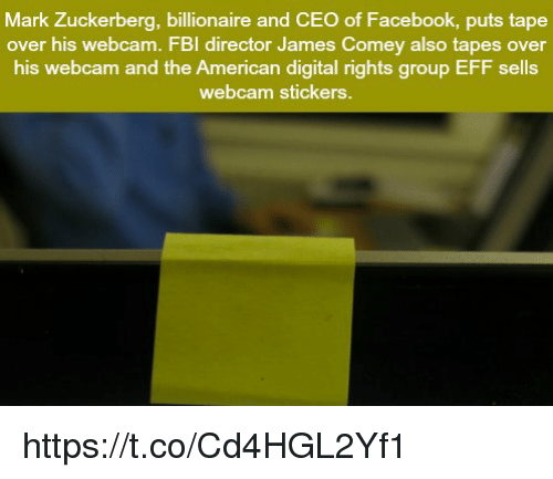 mark zuckerberg billionaire and ceo of facebook puts tape over his