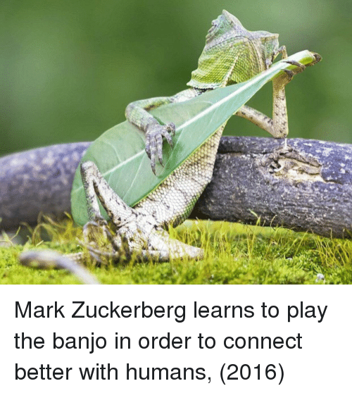 Mark Zuckerberg, Banjo, and Zuckerberg: Mark Zuckerberg learns to play the banjo in order to connect better with humans, (2016)