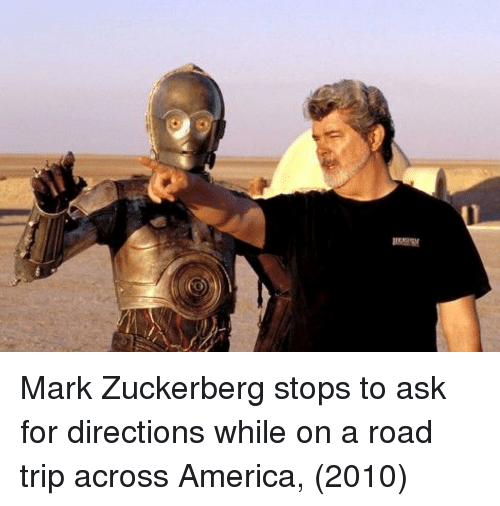 America, Mark Zuckerberg, and Ask: Mark Zuckerberg stops to ask for directions while on a road trip across America, (2010)