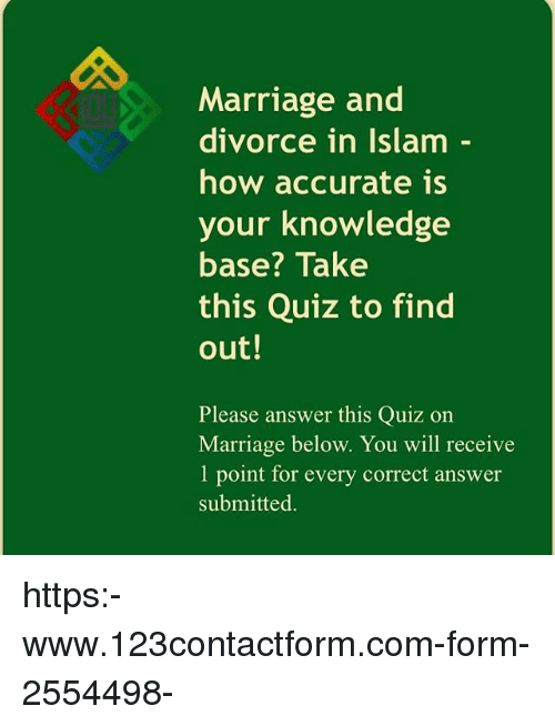 Marriage and Divorce in Islam How Accurate Is Your Knowledge