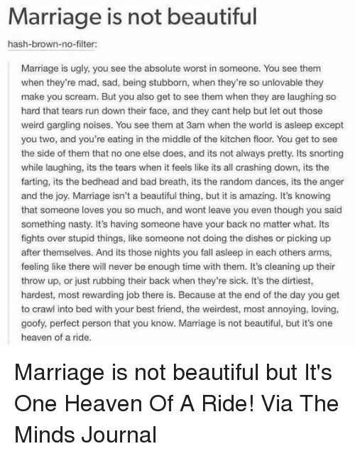 Marriage Is Not Beautiful