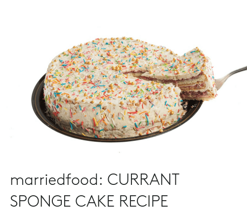 Tumblr, Blog, and Cake: marriedfood:   CURRANT SPONGE CAKE RECIPE