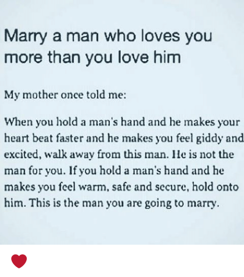 when you tell a man you love him