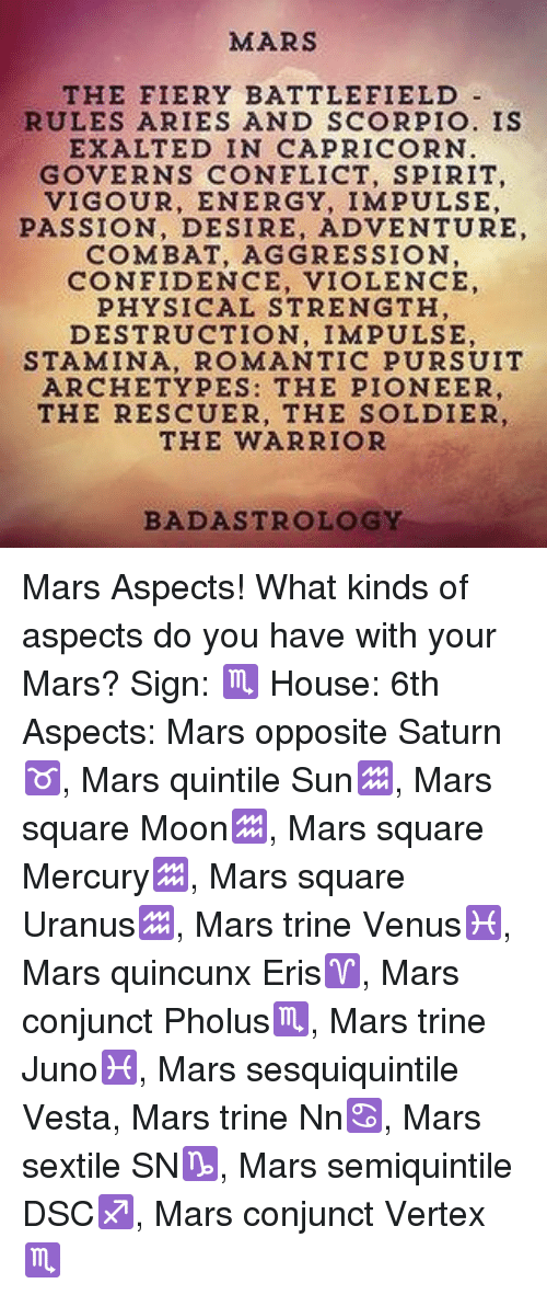 MARS THE FIERY BATTLEFIELD RULES ARIES AND SCORPIO IS