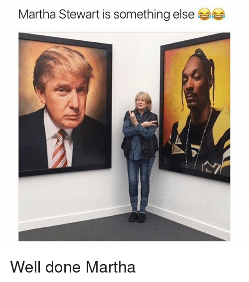 Memes, Martha Stewart, and Something Else: Martha Stewart is something else Well done Martha