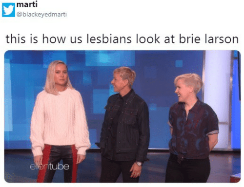 Lesbians, Brie Larson, and How: marti  @blackeyedmarti  this is how us lesbians look at brie larson  elentube