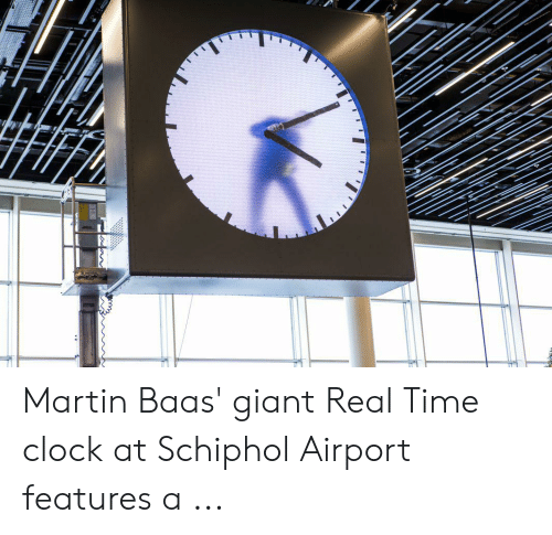 Martin Baas' Giant Real Time Clock at Schiphol Airport