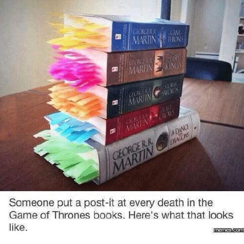 25 Best Memes About Game Of Thrones Books